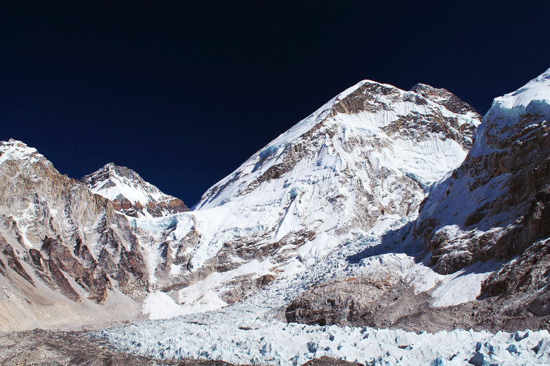 View of Khumbu Icefall from Everest Base Camp.