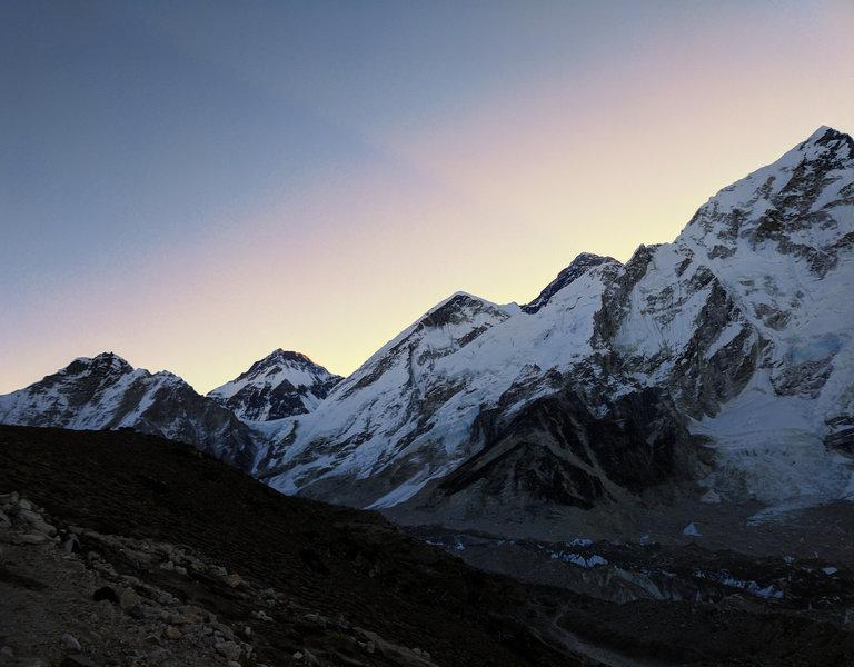 Sunrise view of Everest from Kala Patthar.