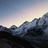 Sunrise view of Everest from Kala Patthar.