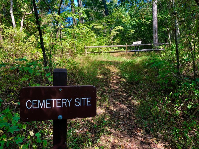 There is not much to see here beyond the sign. The cemetery has no remaining headstones.