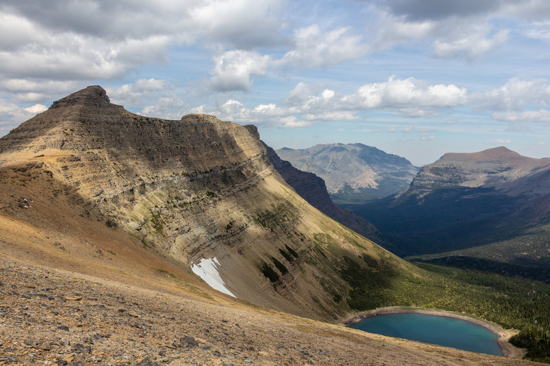 And unnamed lake next to an unnamed peak from Pitamakan Pass.