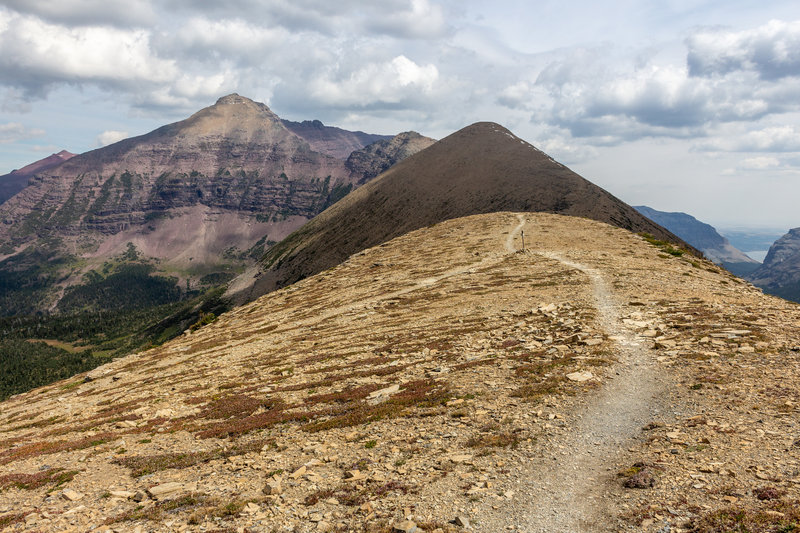 The junction of Pitamakan Pass Trail and Dawson Pass Trail