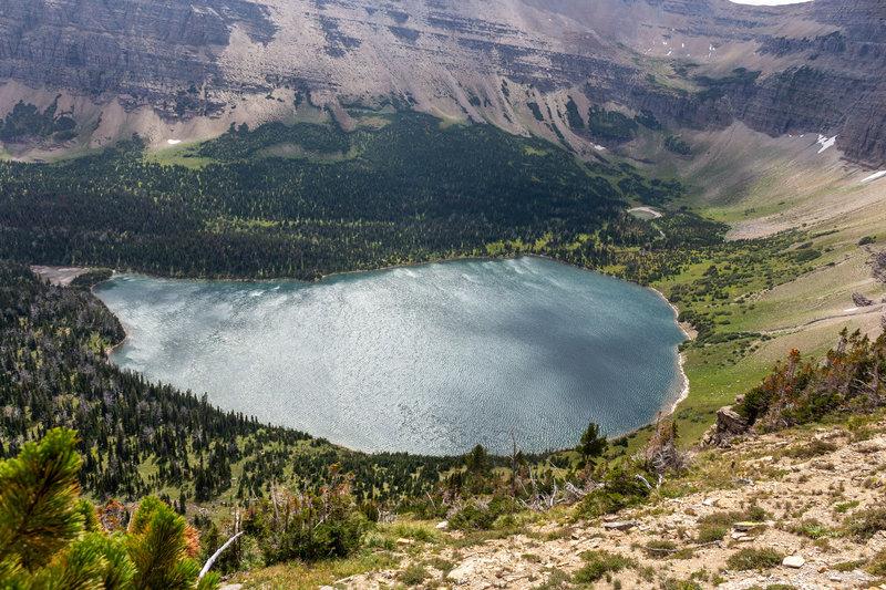 Oldman Lake from Pitamakan Pass