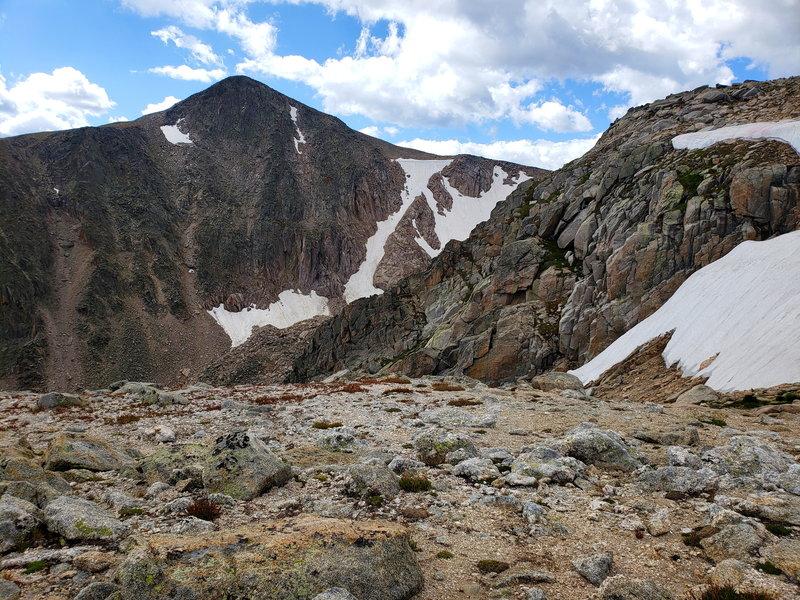 Hallett Peak (12,713') summit from Flattop Mountain