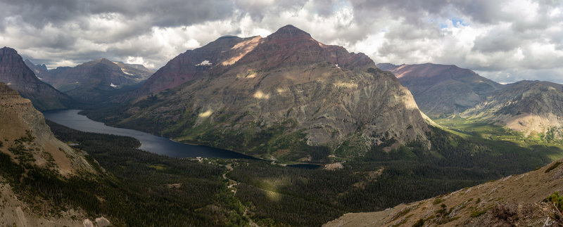 Rising Wolf Mountain and Two Medicine Lake.