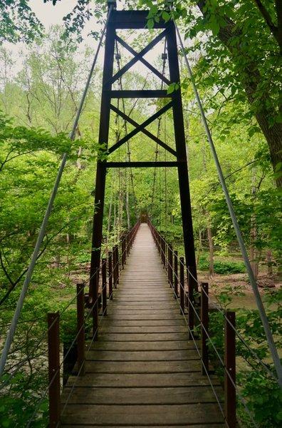 The Swinging Bridge along River Road.