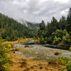 One of the many popular stops for people going down the Rogue River in a boat or canoe.