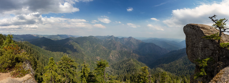 Hanging Rock provides spectacular views into the Wild Rogue Wilderness.