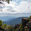 View towards the Panther Ridge from Hanging Rock.