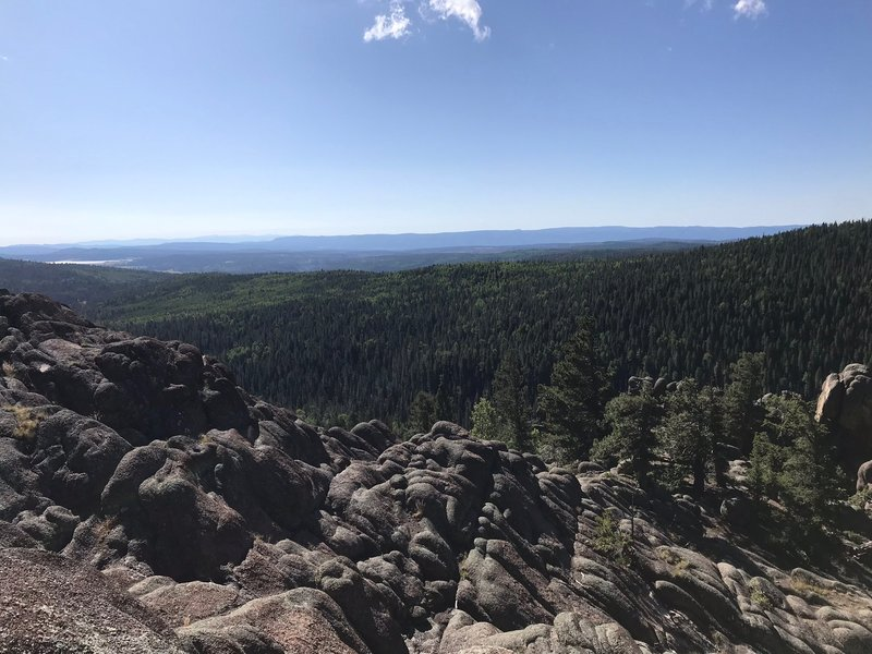 Beautiful view from the first outcropping.