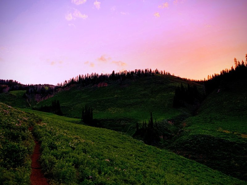 Catch the back end of the trail at sunrise and prepare to be amazed!