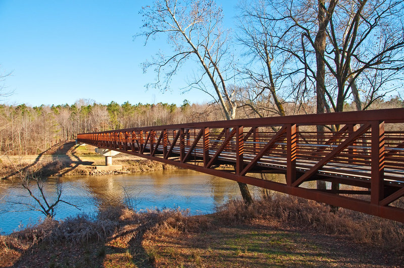 Buffaloe Road Athletic Park bridge, Neuse River Trail.