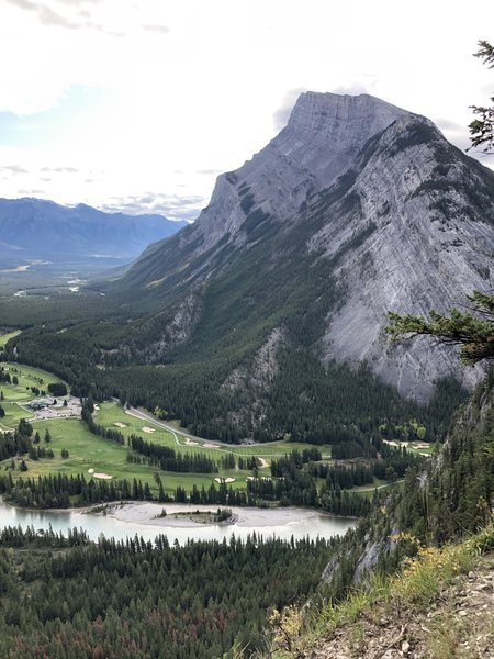 View of Mt. Rundle from Tunnel Mountain Trail