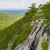 jagged rocks along the ridge