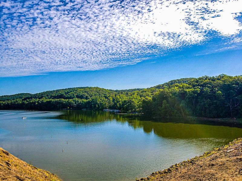 Overlooking the dam