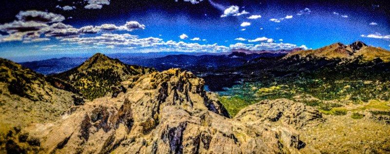From the top of Twin Sisters looking southwest towards Longs Peak.