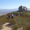 Two hikers returning from Wild Horse Peak