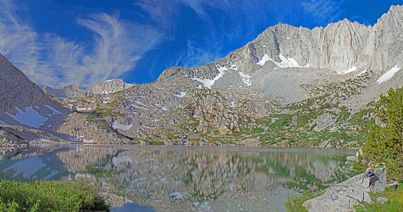 Ruby Lake with Mt. Abbot (13,704) in the background.