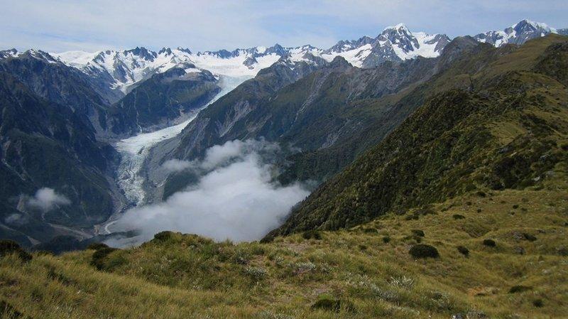 Looking down towards Fox Glacier