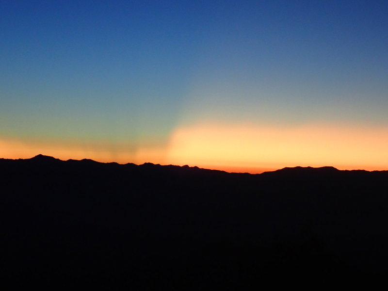 Sunrise view from the top of Oracle Ridge.