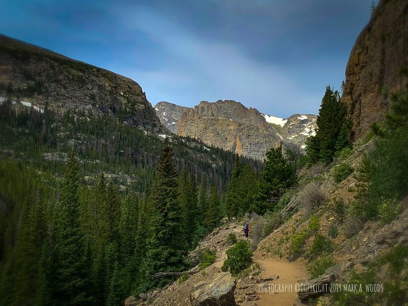 Glacier Gorge Trail to to Sky Pond and Andrews Glacier.
