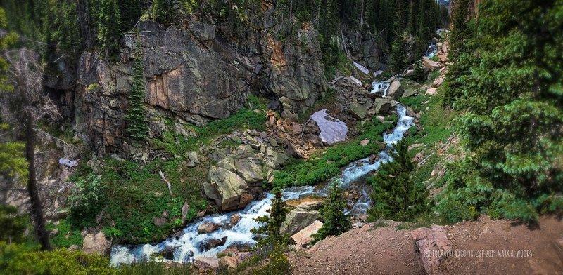 Glacier Creek, above Alberta Falls.