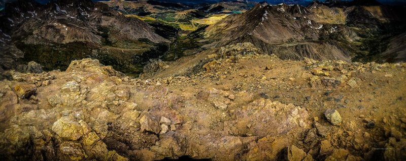 Early morning view southeast from the summit of Mount Democrat, 14,148,.