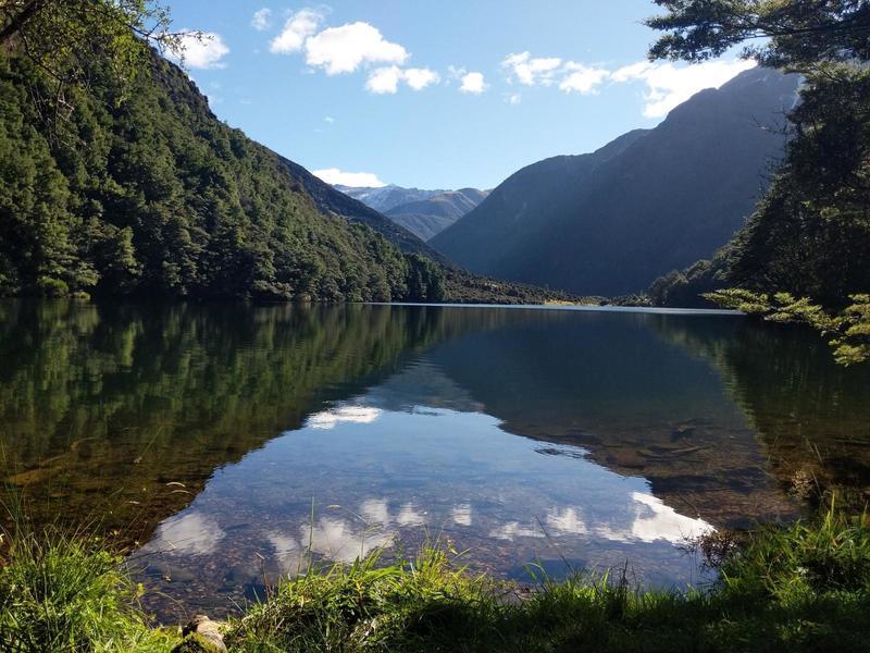 Crystal waters of Lake Rere