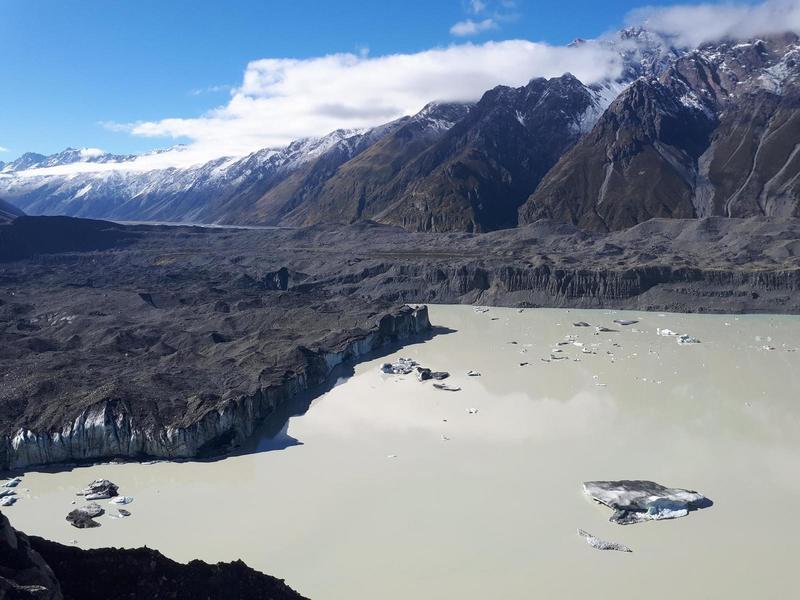 The edge of Tasman Glacier