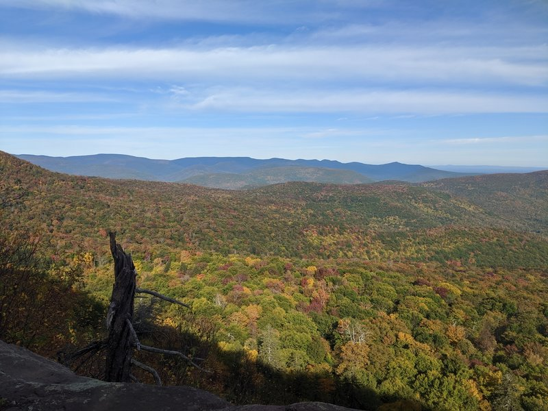 autumn view from one of the ledges