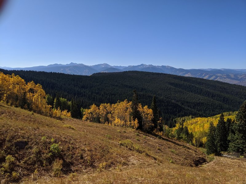 Vail, 10-mile range, Notch Mountain, Mt of Holy Cross, Mt Jackson, Beaver Creek.