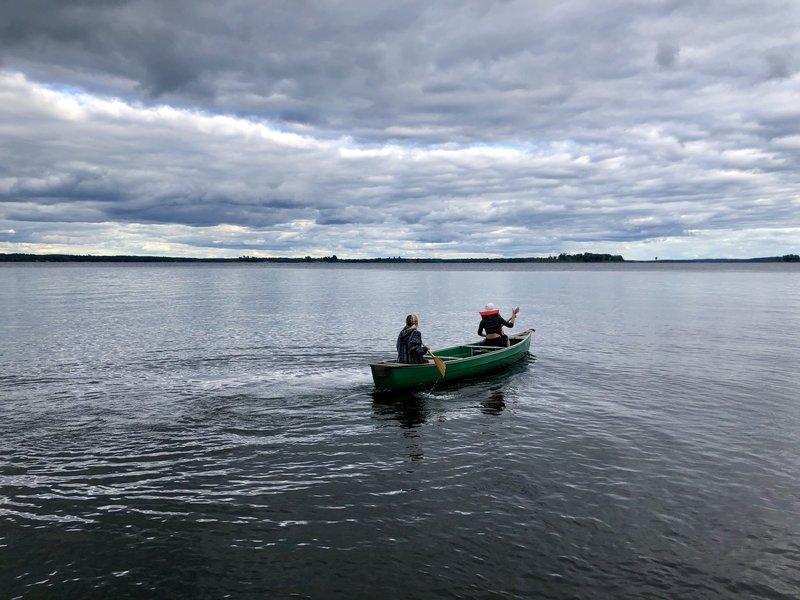 Canoeing on Kabetogama lake.