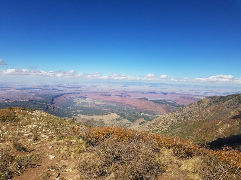 View of Porcupine Rim/Castle Valley to the north