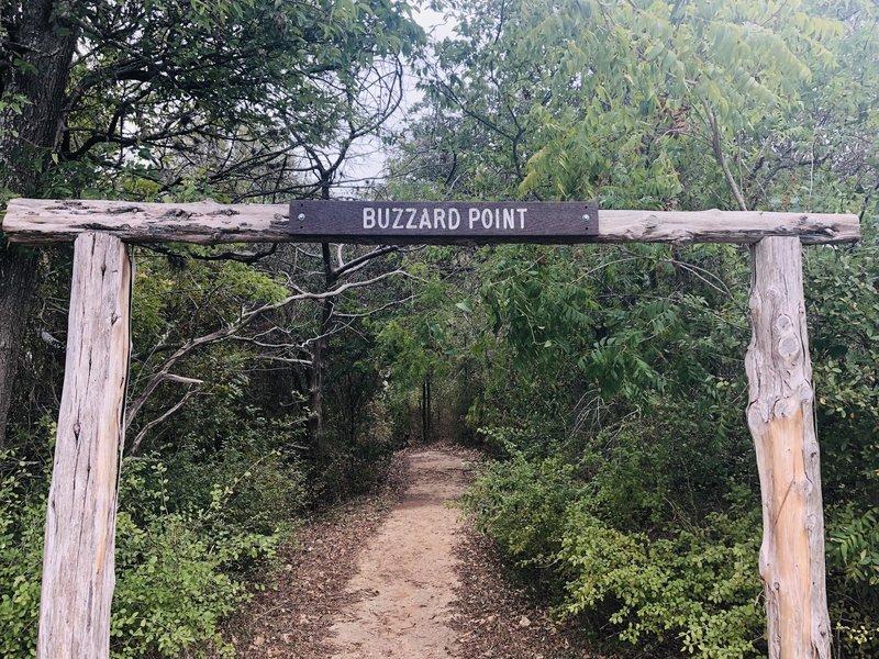 Trailhead for Buzzard Point