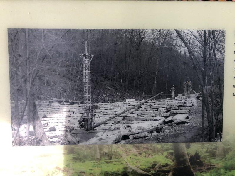 CCC building Jones Mill Dam during Depression