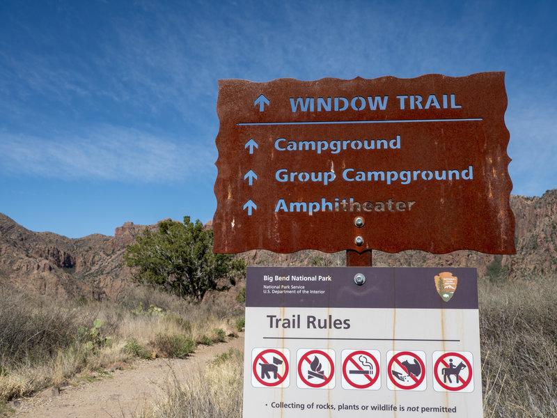 Window Trail Sign