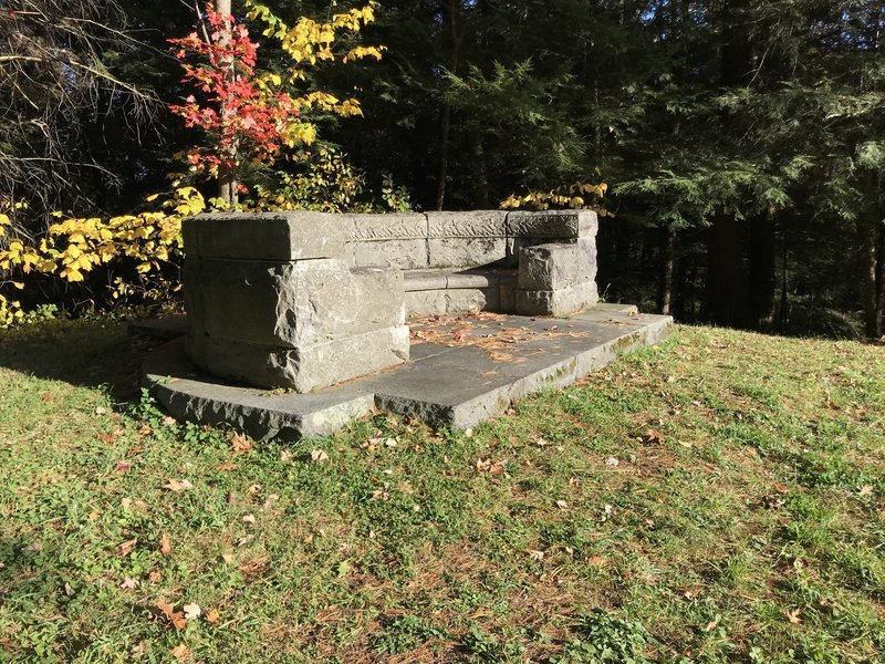Stone Bench atop Laurel Hill.