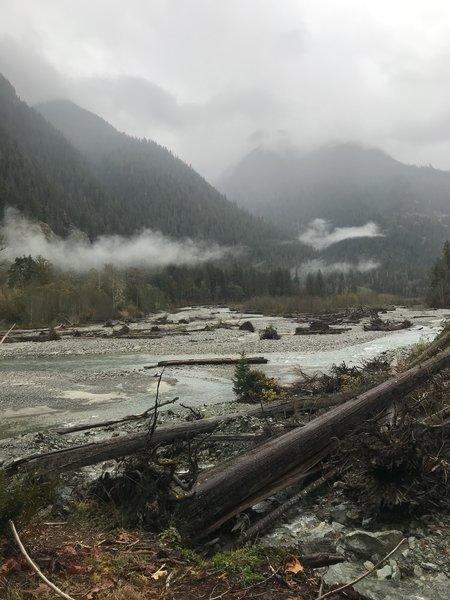 Baker River Trail upstream view