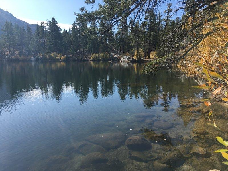 Secret Lake in the fall.