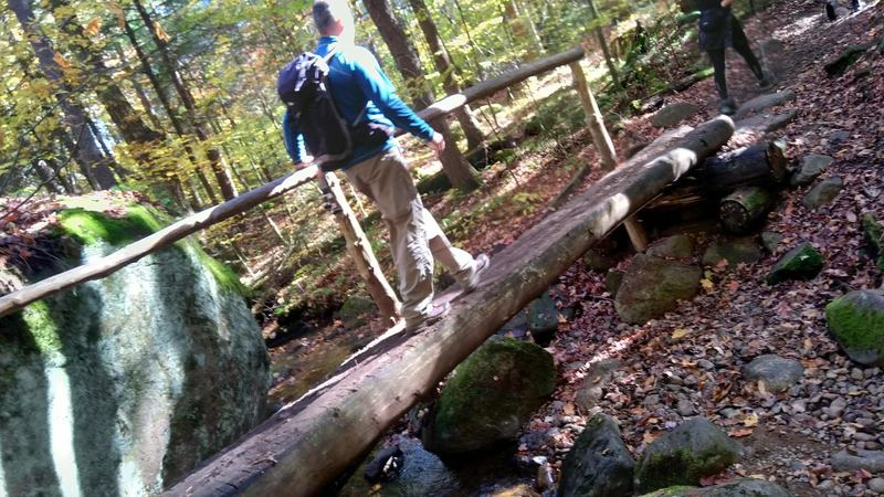 Bridge on the way up of Mount Ampersand Trail