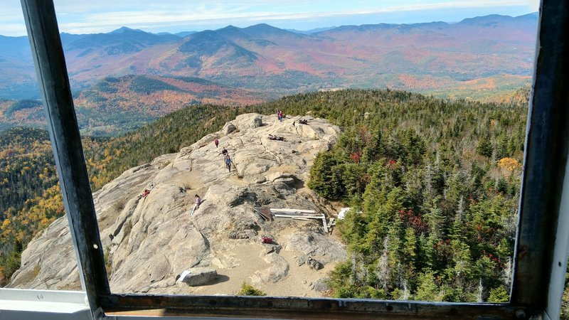 View from the top of the Fire Tower on Hurricane Mountain