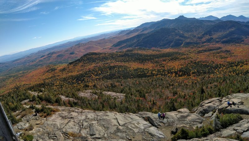View from firetower, on top of Hurricane Mountain