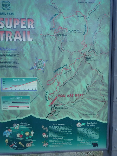 Sign marking the beginning of the #134 Super Trail.