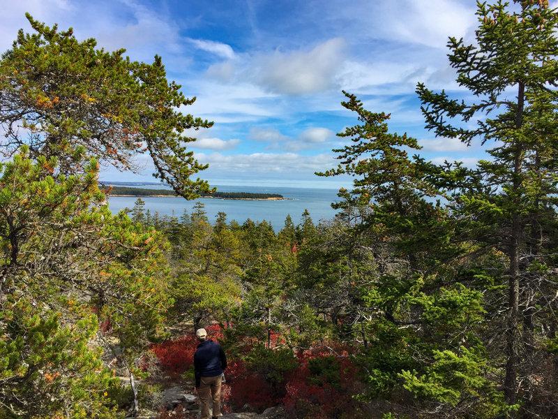 View descending East Trail