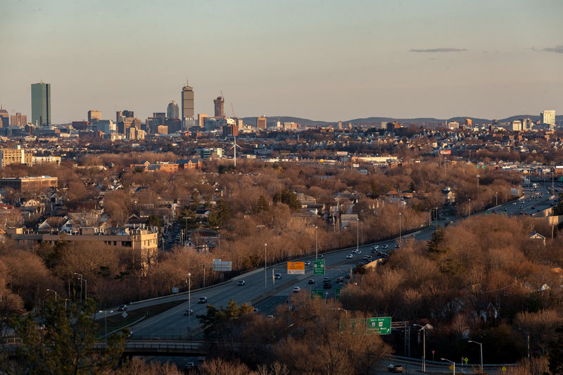 Middlesex Fells Cityscape from Wright's Tower