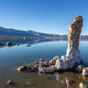 "A salt covered rock ""finger"" on the southern shore of Mono Lake"