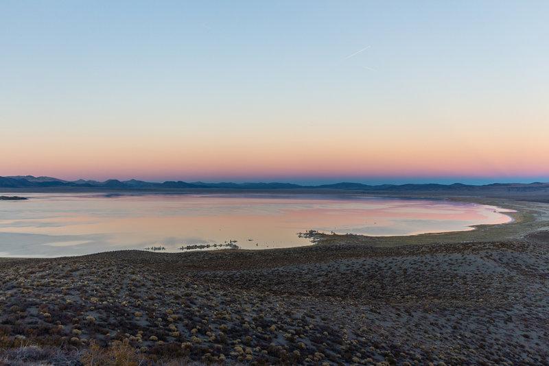 Sunset over Mono Lake.