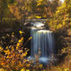 Easily accessible view of Minneopa Falls in mid-October. Just a short walk from the parking lot.