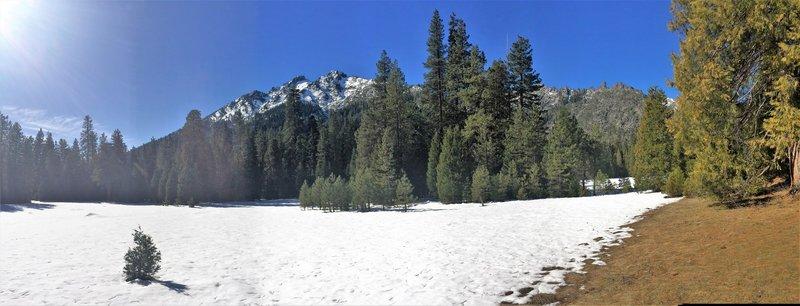 Morris Meadow in the winter.