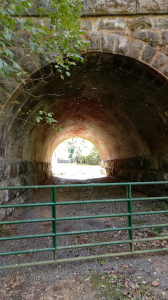RR tunnel interior, heading SE on Tuscarora trail .1 mi. from US Hwy 340.
